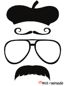 Mustache, Hat, Glasess Templates