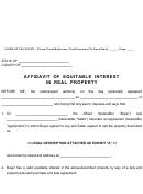 Affidavit Of Equitable Interest In Real Property