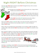 Night Before Christmas Left/right Game Template