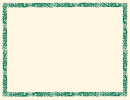 Green And Peach Flowers Page Border Template