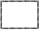 Black And White Flowers Page Border Template