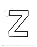 Z Is For Zebra: Letter Of The Week Preschool Craft