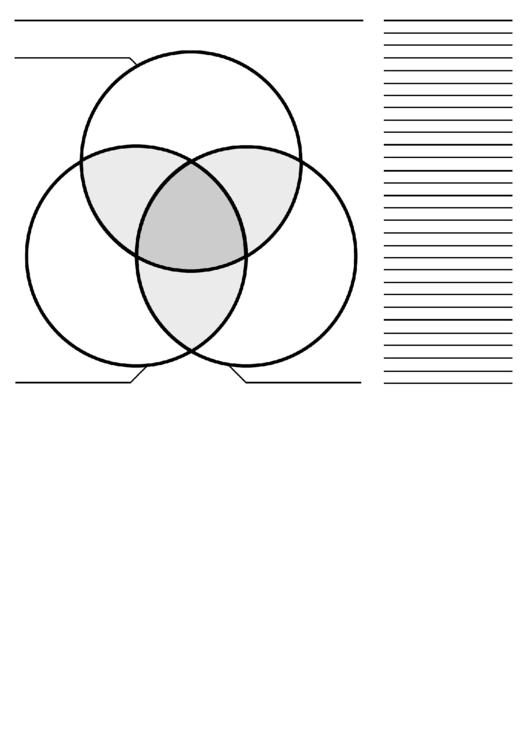 3-Circle Venn Diagram Template printable pdf download