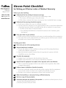Eleven Point Checklist Template For Writing An Effective Letter Of Medical Necessity
