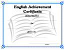 English Certificate Template