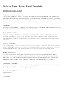Referral Cover Letter Email Template
