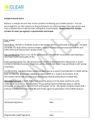 Sample Consent Form
