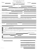 Form Cj-d 101 (4/07) - Complaint For Divorce