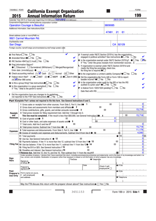 5 Ca Form 199 Templates free to download in PDF, Word and Excel