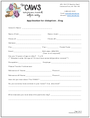 Application For Adoption - Dog - The Caws