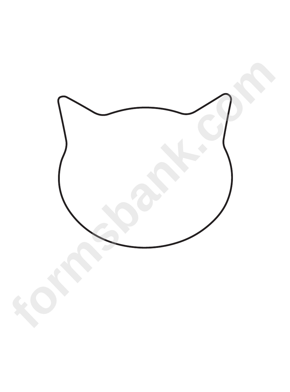 cat face template printable pdf download