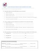 Blood Pressure Medication Information Form