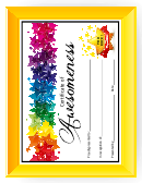 Certificate Of Awesomeness Templates For Kids