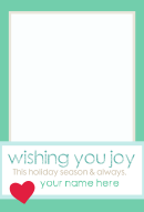 Christmas Wishes Card Template