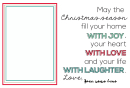 Christmas Season Card Template