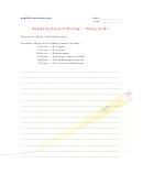 Beginning Practical Writing - Things To Do