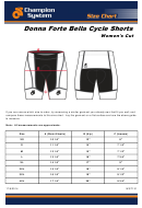 Champion System Donna Forte Bella Women's Cut Cycle Shorts Size Chart