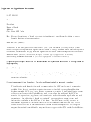 Objection To Significant Deviation Letter Template