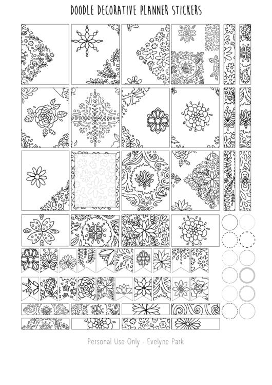 Doodle Decorative Planner Stickers