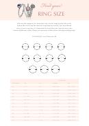 Pandora Ring Size Chart