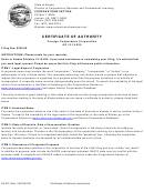 Form 08-474 - Certificate Of Authority Foreign Cooperative Corporation/form 08-561 - Contact Information Sheet - 2013
