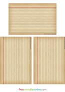 Vintage Lined Notebook Paper