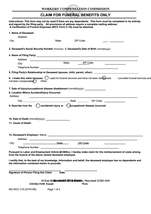 30 benefit claim form templates free to download in pdf. Black Bedroom Furniture Sets. Home Design Ideas