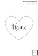 Home Heart Template - Cursive