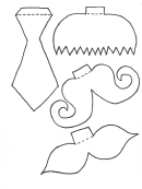 Mustache And Tie Template