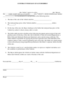 Contract Template For Sale Of Automobile