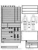 Oakley Measurement Chart - Fast Eddie Racewear