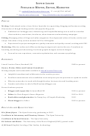 Freelance Writer/editor/marketer Resume Template