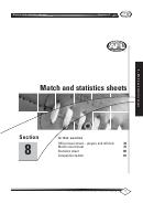 Match And Statistics Sheets