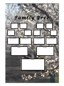 Family Tree With Photo Background Template