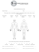 Body Pain And Symptoms Diagram Template