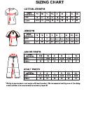 Orillia Legion Minor Baseball Clothing Size Chart