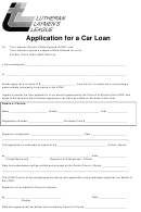 Application For A Car Loan