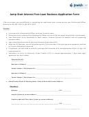 Jump Start Interest Free Loan Business Application Form