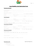 Loan Eligibility Card Application Form