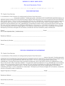 Sports Voice Services Personal Guarantee Form