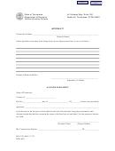 Form Rv-f1311001 - Affidavit