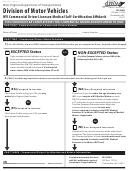 Division Of Motor Vehicles Wv Commercial Driver Licensee Medical Self-certification Affidavit