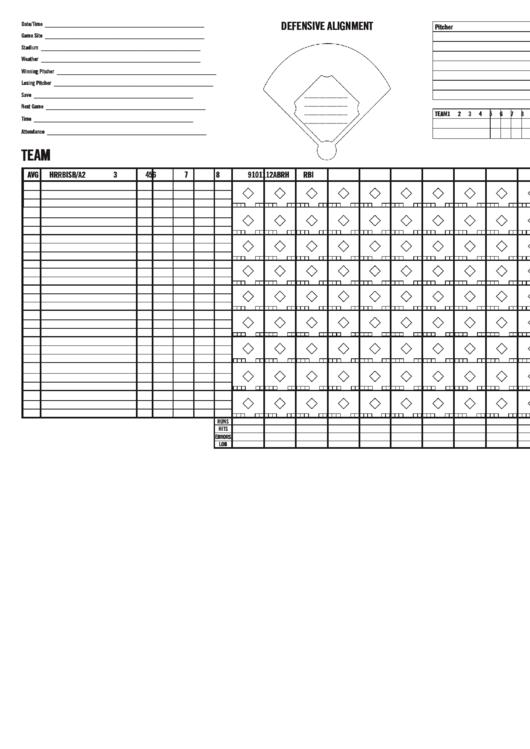 Baseball Ticket Printable pdf