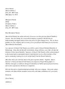 Request For Sponsorship/partnership Letter Template