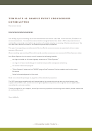 Sample Event Sponsorship Cover Letter Template