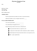 Physician Evaluation Form