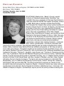 Newspaper Obituary Example