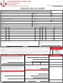 Straight Bill Of Lading - Original Short Form