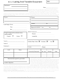 Bill Of Lading And Transfer Document