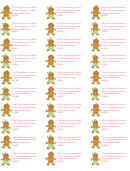 Christmas Gingerbread Men Address Labels Template